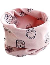 Babybekleidung Schals Longra Herbst-Winter-Baby-Mädchen-Eulen Kragenbaby -Schal Baumwolle O-Ring Halstücher (40 * 40cm)