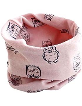 Babybekleidung Schals Longra Herbst-Winter-Baby-Mädchen-Eulen Kragenbaby -Schal Baumwolle O-Ring Halstücher (40...