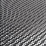KUNFINE Rollo de Vinilo de Fibra de Carbono en 3D para tunear el Coche, Decora tu automóvil con un Moderno Adhesivo Impermeable de 127 x 30 cm (Plata)