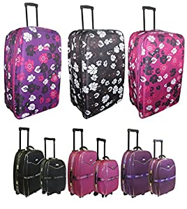 "Lightweight Flower Suitcase Luggage Carry on Baggage, Large and Small Cabin Travel Bags in 19"" 23"" 26"" 28"" 32"""