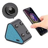 Bluetooth Lautsprecher Boxen, Jocund Dreieck Mini Saugnäpfe Sound Box Musik box mit Bluetooth für handy Smartphone Ständer Halterung PC Lautsprecher mit AUX Kabel 8 Stunde Spielzeit (Blau)