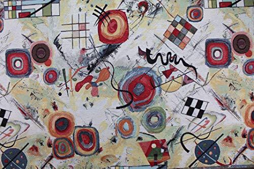 Jacquard-stoff-tasche (Allgemeine Meterware Gobelin Jacquard Werkstoff von Kandinsky - Höhe 1,40 m - 1 QTA = 0,50 m linear - zum Nähen von Taschen, Vorhängen, Kissen, Sofas)