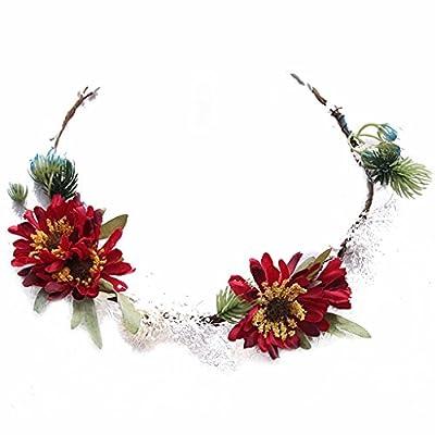ZGP Couronne de Coiffure Couronne de Fleurs de Mariage Accessoires de Cheveux de Mariage Accessoires de Demoiselle D'honneur