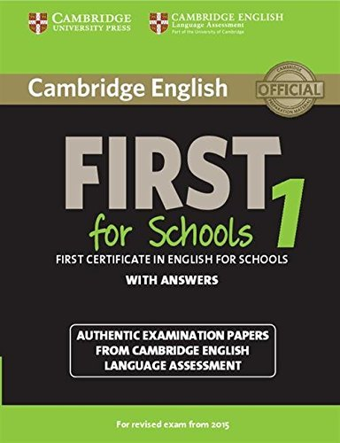 Cambridge English First 1 for Schools for