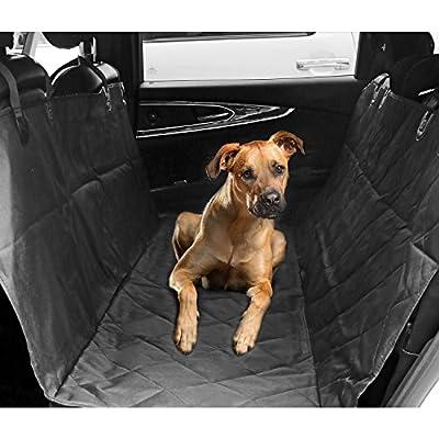 aLLreLi Pet Seat Cover Hammock for Cars, Trucks, and Suv's - Black, WaterProof & NonSlip Backing
