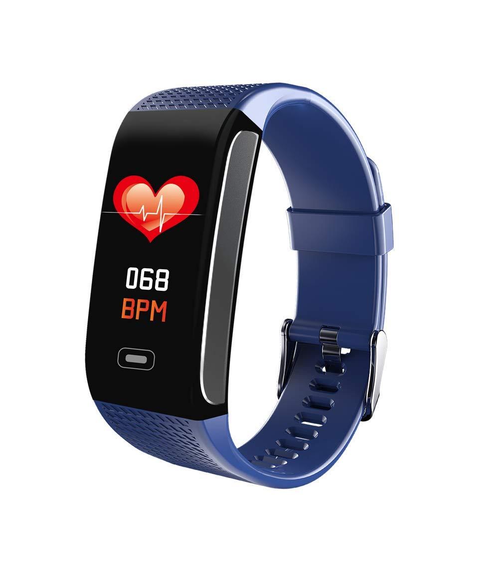 Hunterace Reloj Inteligente Hombre o Mujer, con Monitor de frecuencia cardíaca, con Contador de Pasos, multifunción, Resistente al Agua, Pulsera Inteligente (3 Colores) 1