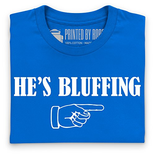 He's Bluffing T-shirt, Uomo Blu royal
