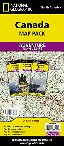 Canada [map Pack Bundle] (National Geographic Adventure Map) (Reiseführer Kanada 2015)