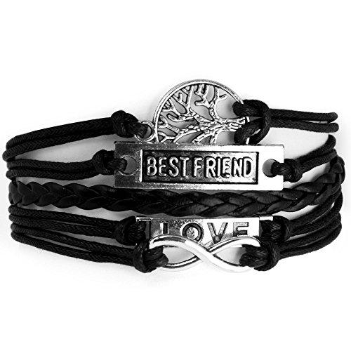 Addic-Hot-Multi-Styles-Infinity-Anchor-Love-Tree-Cross-Leather-Charm-Mens-Bracelet