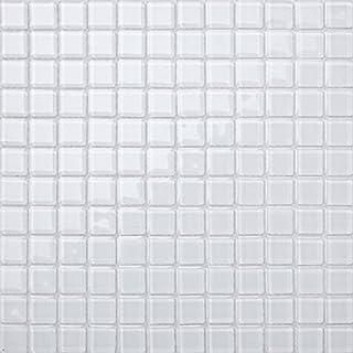 Save Money 1m² Superwhite Glass Mosaic Tile Sheets Bathroom Bath Splashbacks Borders Feature (MT0079)