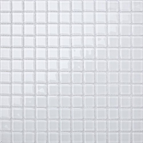 30cm x 30cm Superwhite Glass Mosaic Tiles Sheet (MT0079)