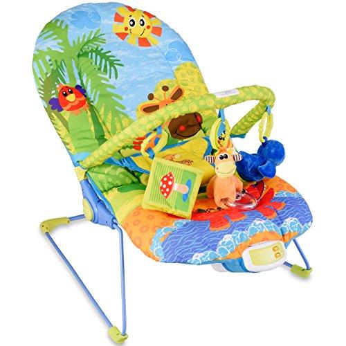 COSTWAY Babywippe Babywiege Schaukelwippe Schaukelsitz Babyschaukel Babysitz mit Vibrationsfunktion Musik (modell 2)