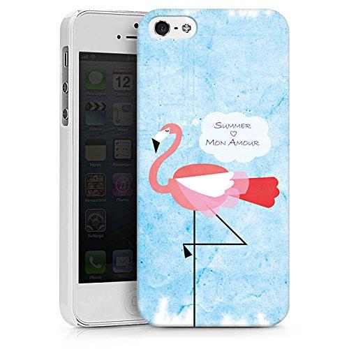 Apple iPhone X Silikon Hülle Case Schutzhülle Flamingo Sommer Pink Hard Case weiß
