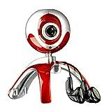 Speedlink Case Webcam und Kopfhörer (360 Grad drehbar, Foto-Funktion, Standfuss und Monitor-Klipp) rot