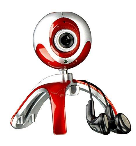 Speedlink Speedlink Case Webcam und Kopfhörer (360 Grad drehbar, Foto-Funktion, Standfuss und Monitor-Klipp) rot