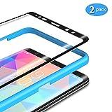 TAMOWA [2 Stück] für Panzerglas für Samsung Galaxy Note 8, 3D Abger&ete Panzerglasfolie 9H Härte für Panzerglas Schutzfolie mit Positionierhilfe, Anti-Kratzen, Anti-Öl, Anti-Bläschen (Schwarz)