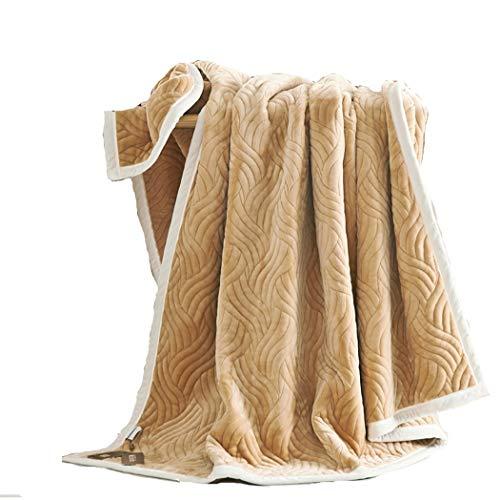Camel-koralle (Herbst Winter Decke 100% Polyester Flanell Quilt Reversible Frottierdecke,Camel,200 * 230)