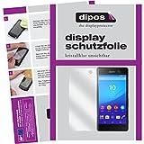 dipos I 2X Schutzfolie klar passend für Sony Xperia M5 Folie Bildschirmschutzfolie