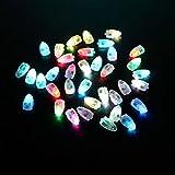 Luz LED RGB multicolor, para globos de helio, luminosa, con interruptor; ideal para bodas, fiestas de cumpleaños (50 unidades)