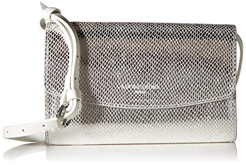 Liebeskind Berlin Damen Valentine Special Clutch Small, Silber (Angel Silver), 5x14x21 cm