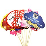 10 Stück lustige witzige Motivkarten mit türkischen Spüchen für Fotoshooting Hochzeit Kina Gecesi Henna Abend Polterabend Geburtstag (Farbenreich)
