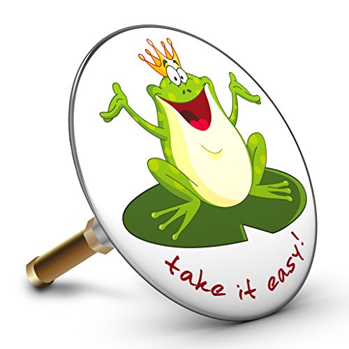 Bath Plopp Froschkönig Take it Easy! Badewannenstöpsel, Stöpsel für Badewanne Abfluss, Stopfen, 4310