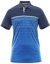 Adidas ClimaCool Gradient Tri Geo Print T-Shirt Polo à manches courtes de Golf, homme