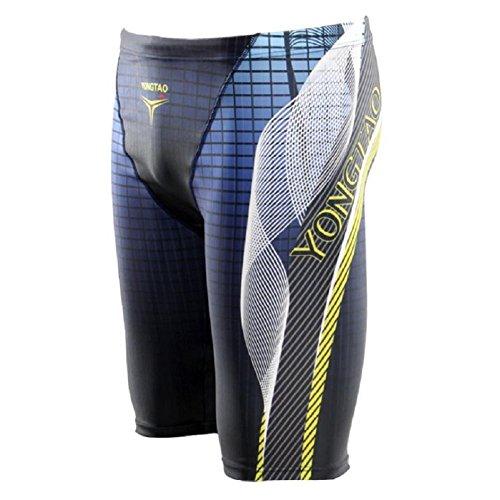 LJ&L Athleten professionelle Schwimm-Shorts, Herren-Badehose-Shorts, bequeme atmungsaktive Stretch-Stoff Badehose, Wassersport wesentliche Waren A
