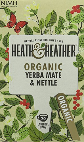 A photograph of Heath & Heather organic yerba mate