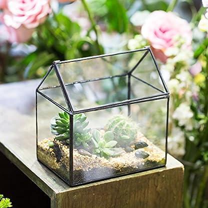 NCYP House Shape Close Glass Geometric Terrarium Wedding Centerpiece Tabletop Succulent Air Plants Planter Window Sill… 2