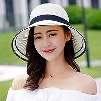 5949a7607ef5b WQLQL Sombrero de paja de sol de moda Sombrilla Plegable Protector Solar  Sombrero de Paja Femenino