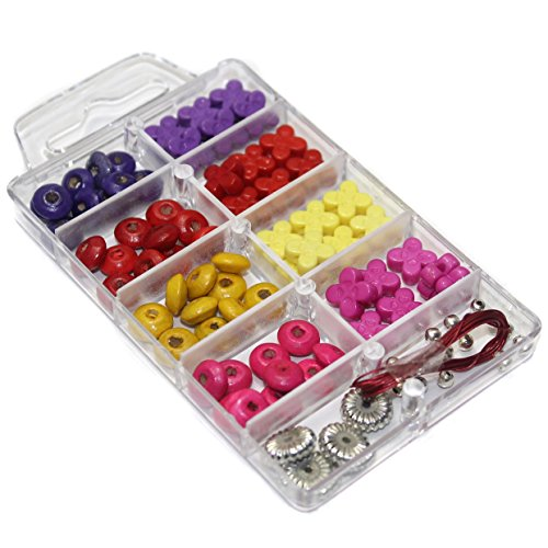 Beadsnfashion Jewellery Making Wooden And Acrylic Beads DIY Kit  available at amazon for Rs.99