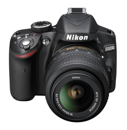 Nikon D3200 SLR-Digitalkamera (24 Megapixel, 7,4 cm (2,9 Zoll) Display, Live View, Full-HD) Kit inkl. AF-S DX 18-55 VR Objektiv schwarz - 4