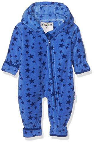 Playshoes Unisex Baby Schneeanzug Fleece-Overall Sterne Blau (Blau 7), 74