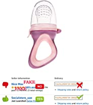 Baby Fruit Feeder Pacifier Fresh Food Mesh Teething Toy with Silicone Pouches and Nipple Teats Travel Case for Toddlers Infa