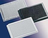 Porvair scienze 043465piastra 384pozzetti di base quadrata per colture cellulari trasparente