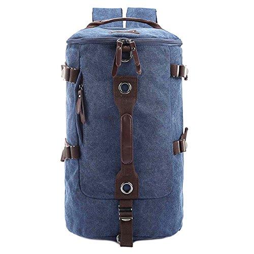 Ushang-Zaino in tela con borsa, zaino da viaggio, borsa da trekking grigio Blu