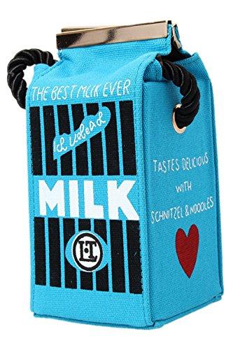8.5x8x16.5cm Hengsong Ragazza Donna Tela Borse a Tracolla Latte Borse Scatola Zaino (Blu) Blu