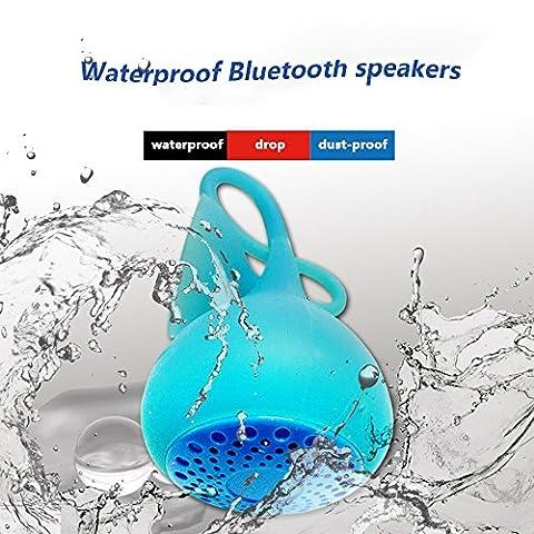 qianfuyin Bluetooth-Lautsprecher mit bunten Lichtern, die mit Ton wechseln Wasserdichte Spielmusik im Wasser Staubdichte Bewertung Outdoor Wireless-Duschlautsprecher mit erweitertem Bass und eingebautem (Bewertung Wasser)