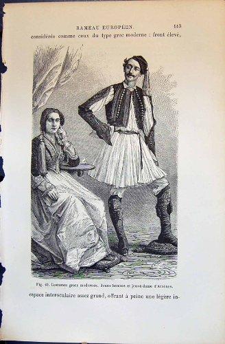 Kostüme Grecs Modernes Jeune Homme D'Athenes 1880 Menschliche Rassen Humaines Figuier