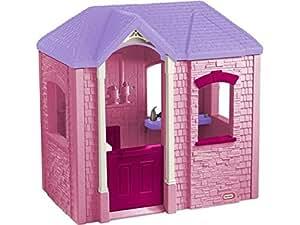 little tikes 172496e3 maison de jardin cambridge playhouse rose jeux et jouets. Black Bedroom Furniture Sets. Home Design Ideas