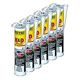 6x PETEC K&D Karosserie Klebe- und Dichtmasse Klebemasse Dichtmasse Karosseriekleber Klebstoff Kleber Kartusche 310ml weiß