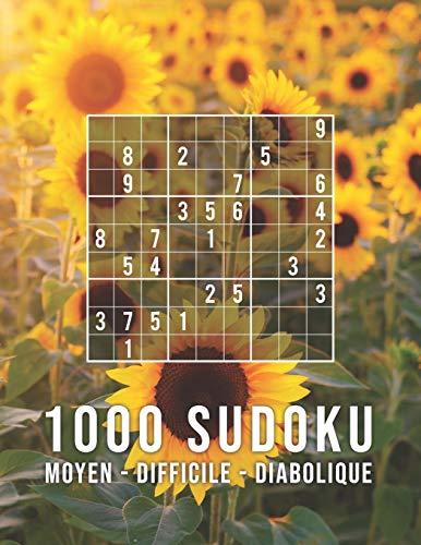 SUDOKU 1000: moyen - difficile - diabolique: Jeu Classique | Collection XXL | Pour Les Génies | Avec Solutions par Mega Sudoku 1000