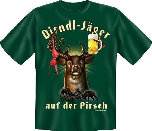 Geburtstag Party Fun T-Shirt geil bedruckt /NEU/ Dirndl Jäger auf der Pirsch ! XXL
