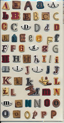 Docrafts Papermania Mr. Smith's Workshop Thick Alphabet Stickers- -