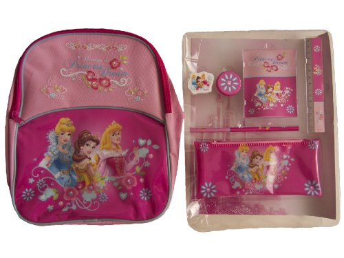 Disney Princess Sac à dos et ensemble de papeterie