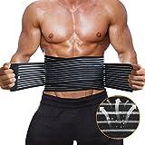 Rückenbandage Rückengurt für Männer und Frauen, Lendenwirbel Rückenstützgürtel mit Verstellbarem Gurt für Rückenschmerzen von DECEYO, Groß