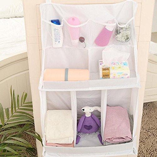 Gzq Baby nursery organizer multifunzione lettino lettino con tasca portaoggetti da appendere per giocattoli pannolino pannolini latte in polvere umida carta igienica asciugamani vestiti