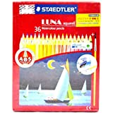 Staedtler Luna Classic Aquarell Water color Pencil, 36 Shades with free products