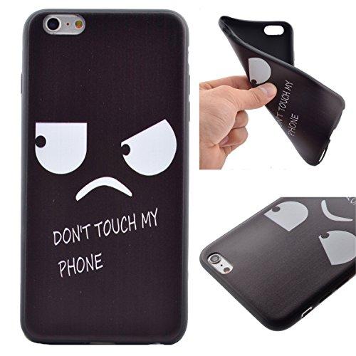 """iPhone 6s Coque, iPhone 6 Coque, Lifeturt [ Star Papillon ] Housse Anti-dérapante Absorbant Chocs Protection Etui Silicone Gel TPU Bumper Case pour Apple iPhone 6s / iphone 6 4.7"""" E02-Ne touchez pas mon téléphone9653"""